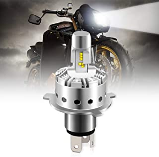 Powerty H4/9003 LED Motorcycle Headlight Bulbs 2019 Updated Extremely Bright 50W 12000LM 6000K Hi/Lo Beam Replacement All-...