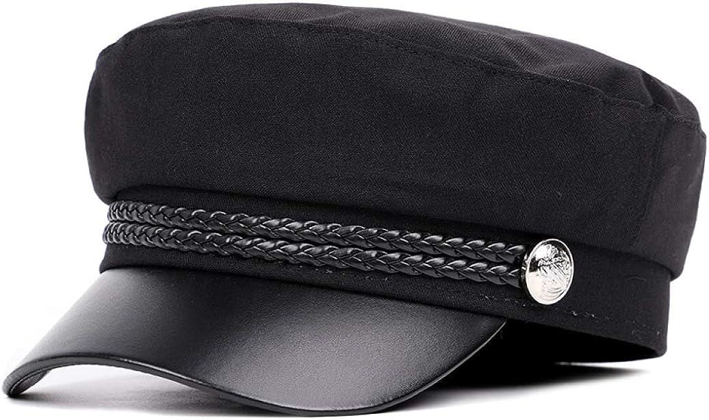 Women's Flat Military Baseball Cap Unisex Fashion Vintage Student Visor Hats Classic Casual Newsboy Berets