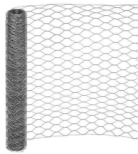 25 Meter Rolle Maschendraht Sechseckgeflecht Hühnerzaun Geflügelzaun Drahtzaun verzinkt Maschenweite 50 mm (Höhe 120 cm)