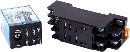 Aexit 5 Unids DC 12V Bobina DPDT 2NO // 30V 5A model: H8228IXII-2465IM 2NC 8 Pines Potencia Rel/é Electromagn/ético Carril DIN // PCB Montado 250V
