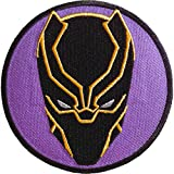 Ata-Boy Marvel Comics Black Panther Mask 3' Full Color Embroidery Iron-On Patch