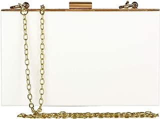 Women Cute Acrylic Box Clutch Purse Decorative PVC Evening Handbags Shoulder Cross-Body Bag for Bride Wedding Party