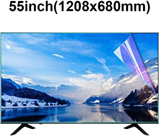 KUYUC Screen Protector for 55 Inches TV, Anti Blue Light Anti Blue Light Screen Filter, LED TV Screen Protector Anti-Glare Anti-Scratch, Eye Protection LCD Filter Film (Color : A)