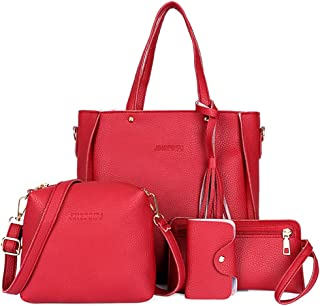 Fanspack Womens Handbag Tote Bag Large Capacity Handle Bag with Satchel Bag Card Wallet