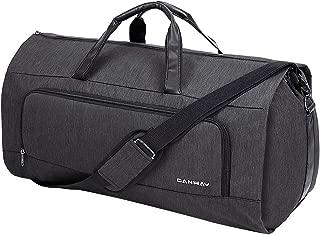 CANWAYガーメントバッグ ダッフルスーツカバー 週末バッグ フライトバッグ ビジネス 洋服コートドレスカバー 型くずれ防止 防水防塵 軽量 靴収納 ポケット付き
