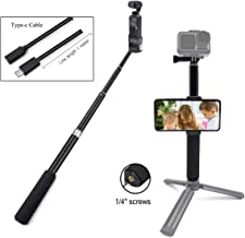 STARTRC OSMO Pocket Extension Rod Selfie Stick with Type C USB Cable for DJI OSMO Pocket /OSMO Action Camera Tripod Accessories