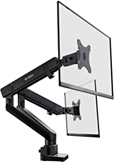 Premium Dual Monitor Mount - Adjustable (90 Degrees) Desk Double Arm Monitor Stand - Fit 17 Inch to 32 Inch Computer Screens