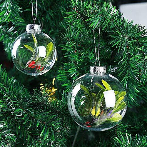 KimcHisxXv Bola De Navidad, Deco De Navidad Bola De Plástico Transparente Bolas De Navidad Decoraciones De...