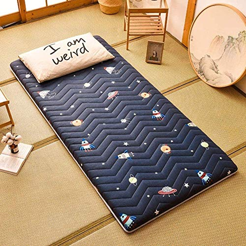 Alfombra De Tatami para Dormir, Colchón De Tatami para Futón Plegable, Colchón De Dormir Suave Y Grueso, Colchones De Dormitorio De Estudiantes Japoneses Enrollados,B-80x200cm(31.49xx78.74 in)