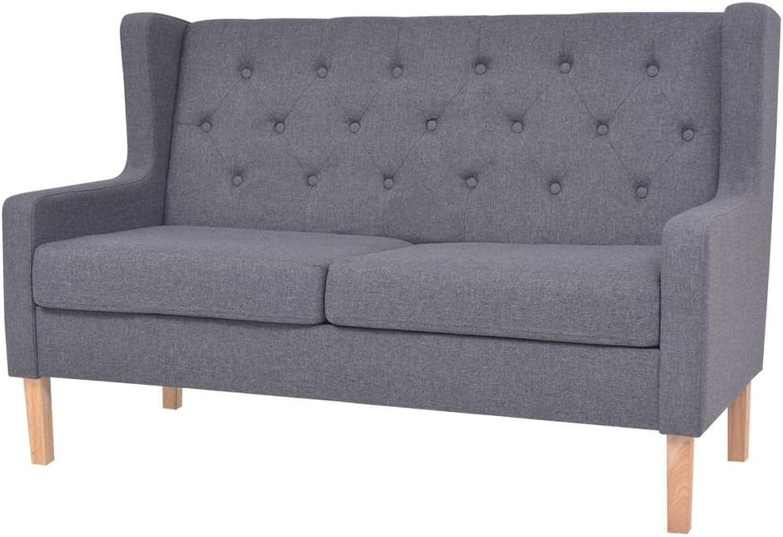 VidaXL Sofa 2-Sitzer Stoff Skandinavisch Grau Polstersofa Loungesofa Sitzmbel