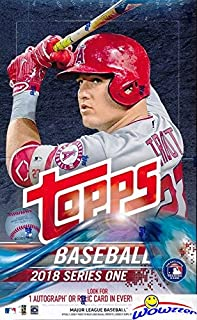 2018 Topps Series 1 MLB Baseball MASSIVE 36 Pack Factory Sealed HOBBY Box with 360 Cards & AUTOGRAPH or RELIC Card! Loaded with ROOKIES, (21) Inserts & (3) Parallels Cards! Always a Home Run! Loaded!