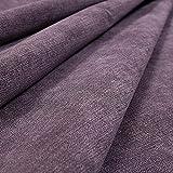 New Furnishing Fabrics Tela para tapicería de felpilla con Acabado Mate para sofás, sillas, Muebles, Tela tratada con Llama en Color Morado, Chenilla, Morado, 10cm x 8cm Sample