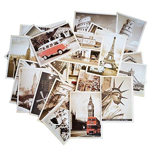 fancyoung 32PCS 1Set Vintage Retro Old Reise Sehenswürdigkeiten Landschaft Postkarte Karten Souvenir Geschenke für Worth sammeln Scenery