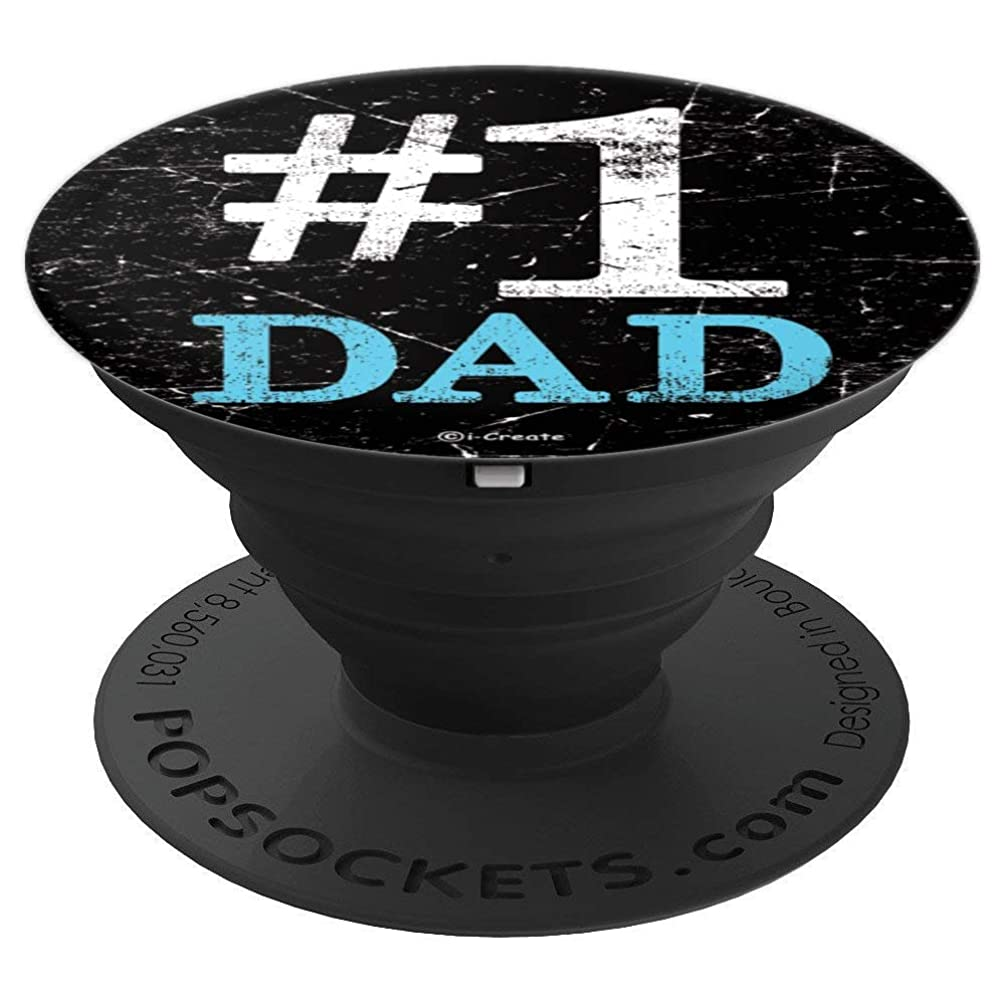i-Create #1 Dad Father'S Day PopSockets Stand for Smartphones and Tablets - PopSockets Grip and Stand for Phones and Tablets