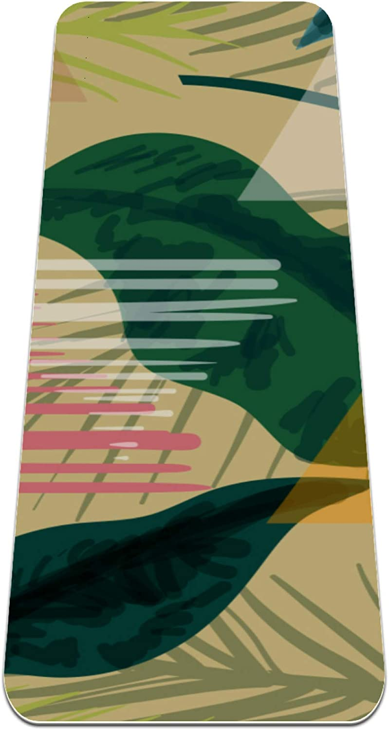 Exotic Botanical Pattern Background Yoga Mat Slip Thick Quantity limited Non Louisville-Jefferson County Mall