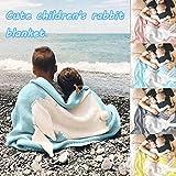 CRITY Decke, Stricken weich Badedecke Baby Multifunktional Matratze Schlafzimmer Warm halten Bettlaken Zuhause Dekoration Lieferungen (Blau)