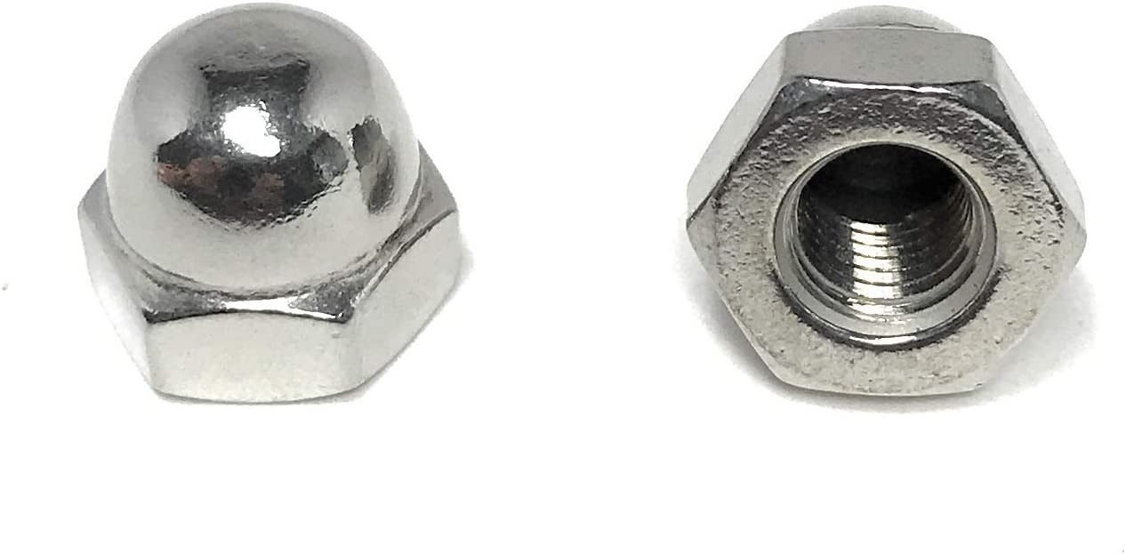5 Popular 16-24 Acorn Cap Nuts 18-8 Stainless Steel Thread UNF 1 Fine sale -
