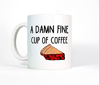 Most Toasty A Damn Fine Cup of Coffee Twin Peaks Inspired Ceramic Mug, 11 Ounce, White