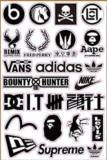 Brand Logo Bape Undefeated Skateboard Sticker Laptop Luggage Car Bumper Decals