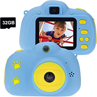 Cocopa Appareil photo numérique pour enfants - Carte SD de 32 Go - Cadeau pour les tout-petits - Jouets pour garçons et fi...