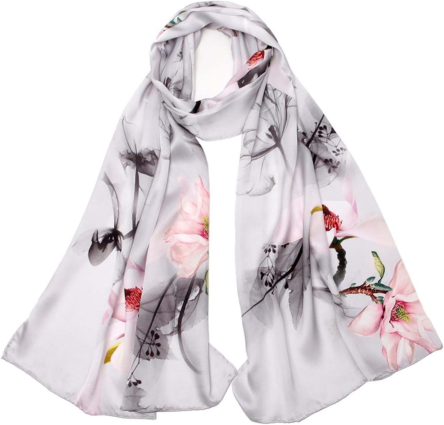 100% Mulberry Silk Scarf Large Wraps Hair Scarves Fashion Pattern Shawls Neck Scarfs for Women