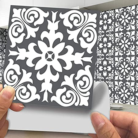 8 Self Adhesive Tiles Stained Glass 6 X 6 15cm X 15cm 1mm Thick Solid Tiles Self Adhesive Stick On Wall Tile Stickers Transfers Decals Apply Over Any Size Of Tile