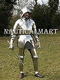 NAUTICALMART Disfraz de Caballero Medieval Completo de Armadura para Halloween