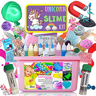 Ultimate Unicorn Slime Kit - Perfect Toys Gifts for 7 8 9 10 11 12 Year Old Girls Birthday - Best Value DIY Slime Supplies Kits for Making Tons of Various Fail-Proof Slimes