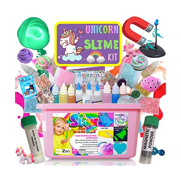 Ultimate Unicorn Slime Kit for Girls - Perfect Toys Gifts for 7 8 9 10 11 12 Year Old Girls Birthday - Best Value DIY Slime Supplies Kits for Making Tons of Various Fail-Proof Slimes 3
