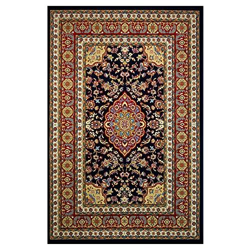OLIVO.shop | TAPPETO NAIN TABRIZ ANKARA tappeto arredo classico modello persiano per soggiorno, camera da letto, ufficio, art.542-B blu 120x180 cm