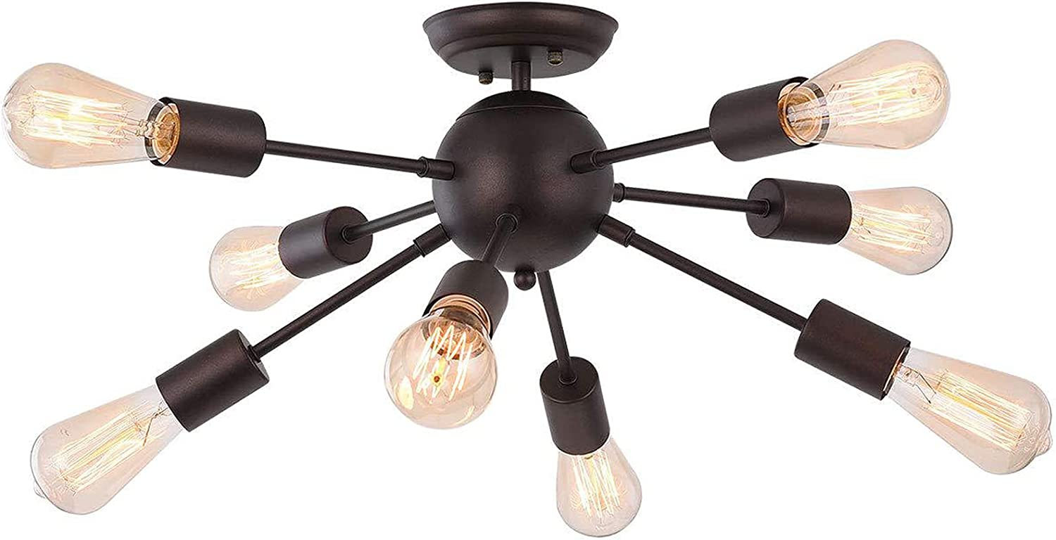 Qcyuui Sputnik Max 41% OFF 8-Light Ceiling Light Cha Century Mid Industrial New Orleans Mall