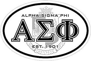 Greekgear Alpha Sigma Phi Oval Crest Bumper Sticker