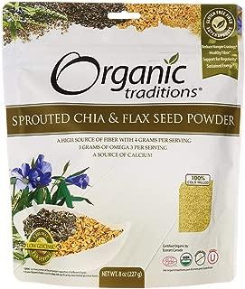 Organic Traditions - Polvo brotado de la semilla de Chia y