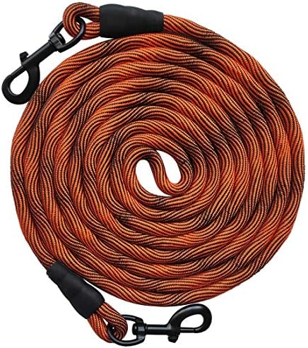 BTINESFUL Tie Out Check Cord Long Rope Dog Leash 12ft 20ft 30ft 50ft Recall Training Lead Leash product image