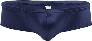 TiaoBug Mens Lingerie Low Rise Wetlook Shiny Bulge Pouch Bikini Briefs Underwear