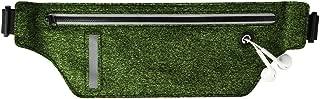 ZHOUJJ Waist Bag T2 Shape Portable Outdoor Light Thin Sport Mobile Phone Waist Bag (Green) (Color : Green)