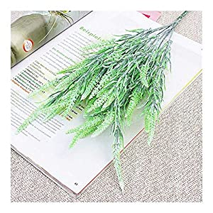 ZHXDXF Lifelike 7 Branches Foxtail Artificial Flowers Autumn Home Hotel Decoration Wedding Bridal Bouquet Fake Flowers Festival Holiday Home Décor/Green