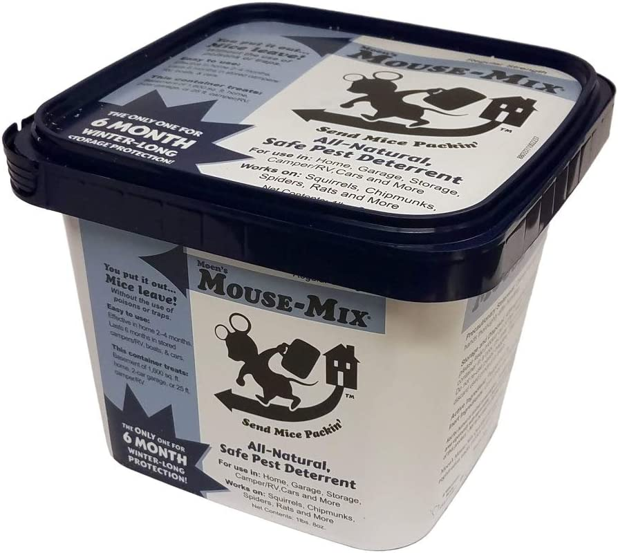 Moen's Mouse-Mix Mouse-Mix Container All-Natural Pest Deterrent Container - 18 Zip Loc Bags