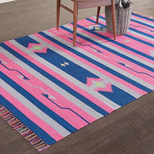 Eine Marke von Amazon - Movian Burgas - Rechteckiger Teppich, 213,4x152,4cm (L x B), Geometrisches Muster