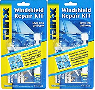 RainX Fix a Windshield Do it Yourself Windshield Repair Kit, for Chips, Cracks, Bulll's-Eyes and Stars (2 pack