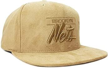 Mitchell & Ness Men's Brooklyn Nets Micro Suede Adjustable Snapback Hat