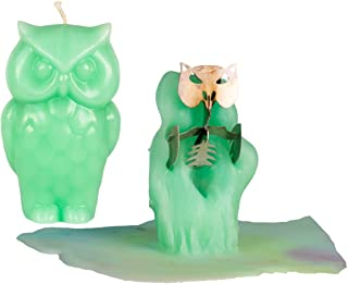 Owl Candle – Unscented – Skeleton Candles – Green