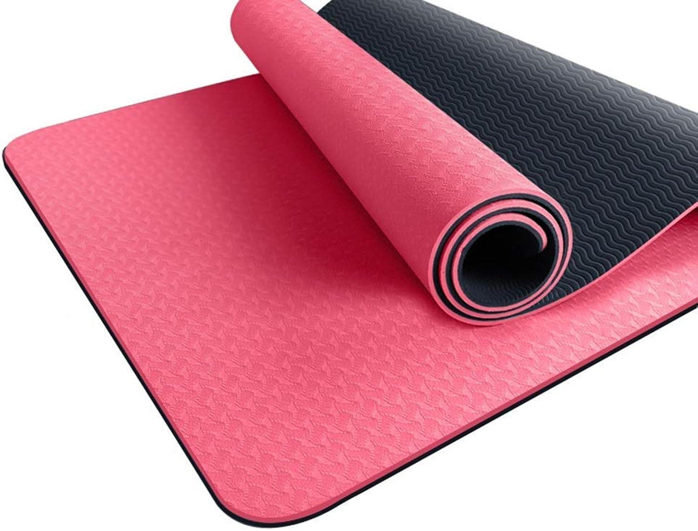 KYCD Yoga-Matte mit Tragegriff Pilates Gym Fitness übung verdicken High Density Large Gepolsterte TPE-Matte