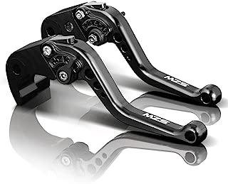MZS Short Levers Brake Clutch CNC Black compatible Kawasaki Z800 Z800E ZR800 2013 2014 2015 2016