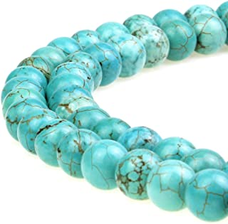 JARTC Best Sellers Stone Beads Turquoise Round Loose Beads for Jewelry Making DIY Bracelet Necklace (8mm)