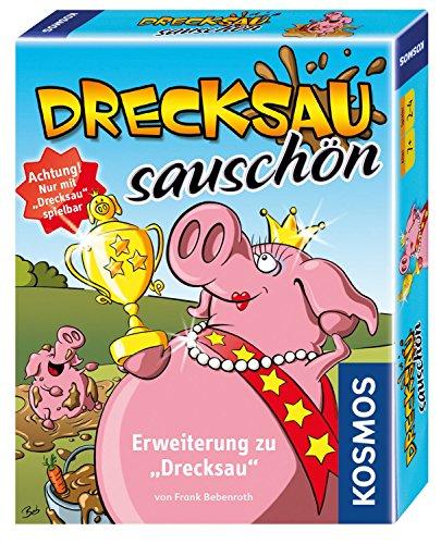 KOSMOS 740375 Drecksau - Sauschön Erweiterung des Bestsellers Drecksau lustiges Karten-/Partyspiel