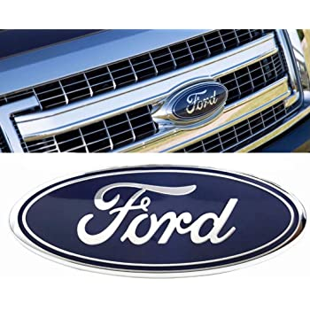 Carhome01 2004-2014 F150 Front Grille Tailgate Emblem for Ford Partial Update 11-14 Edge Oval 9X3.5 Dark Blue Decal Badge Nameplate Fit for 04-14 F250 F350 11-16 Explorer 06-11 Ranger