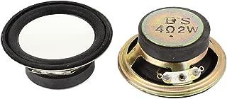 uxcell 2 Pcs 2W 4 Ohm Aluminum Shell Magnet Speaker Loudspeaker 50mm Dia