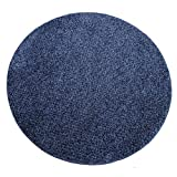 スミノエ ラグ・カーペット ブルー 120×120cm 洗える 防ダニ ミランジュ正円