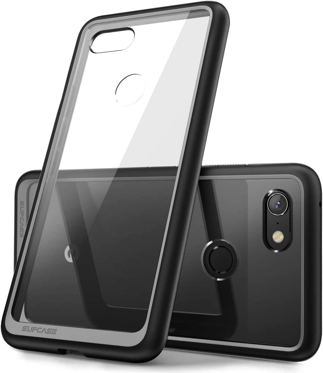SUPCASE Unicorn Beetle Style Series Case for Google Pixel 3 XL, Clear Protective TPU Bumper PC Premium Hybrid Case for Google Pixel 3 XL 2018 Release -Retail Package (Black)